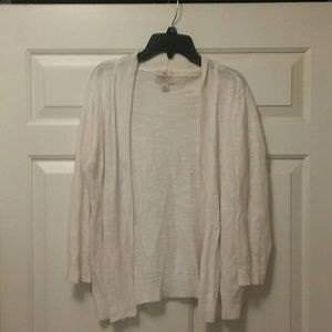 St. John's Bay White Open Cardigan Size Large